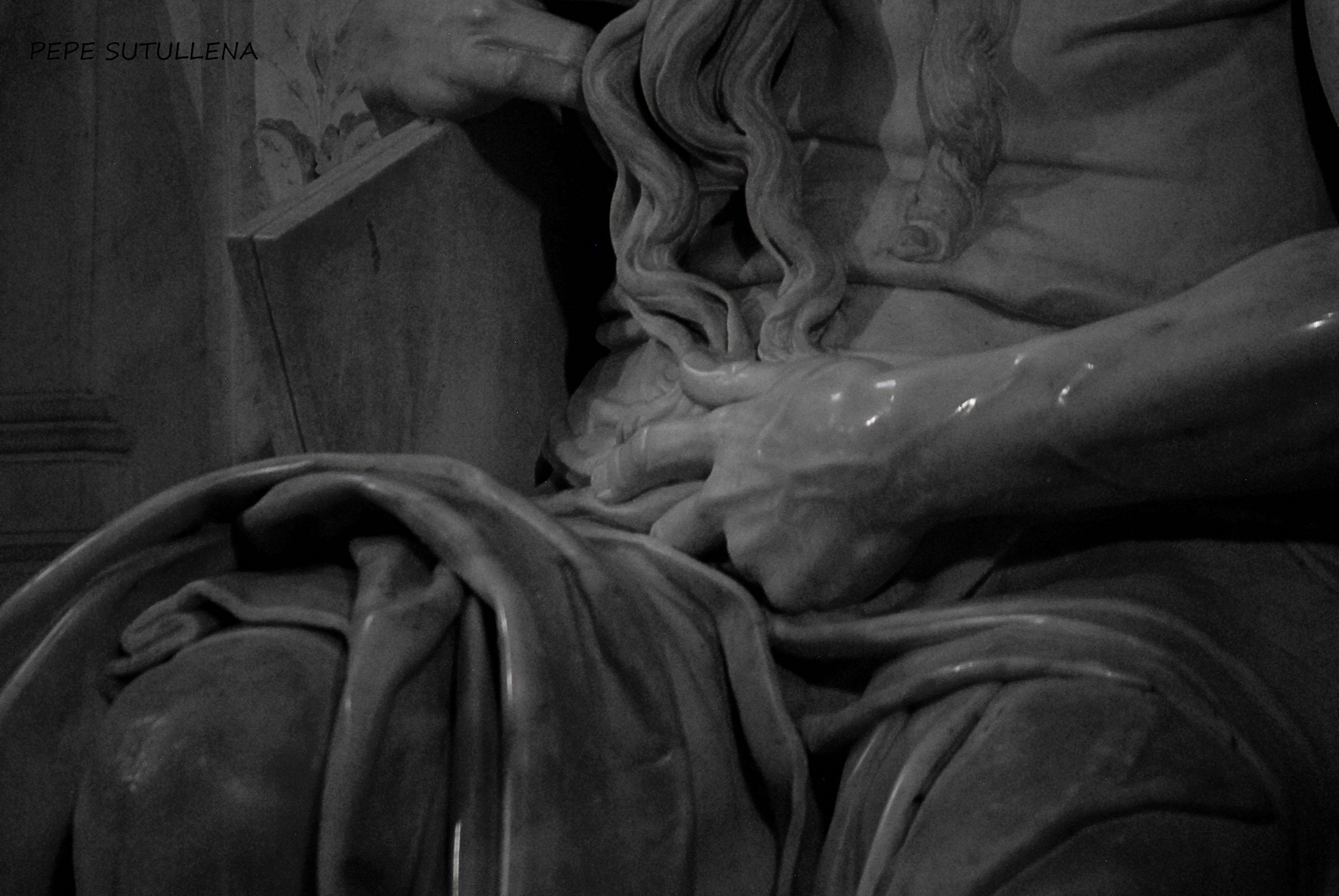 Detalle del brazo del Moisés