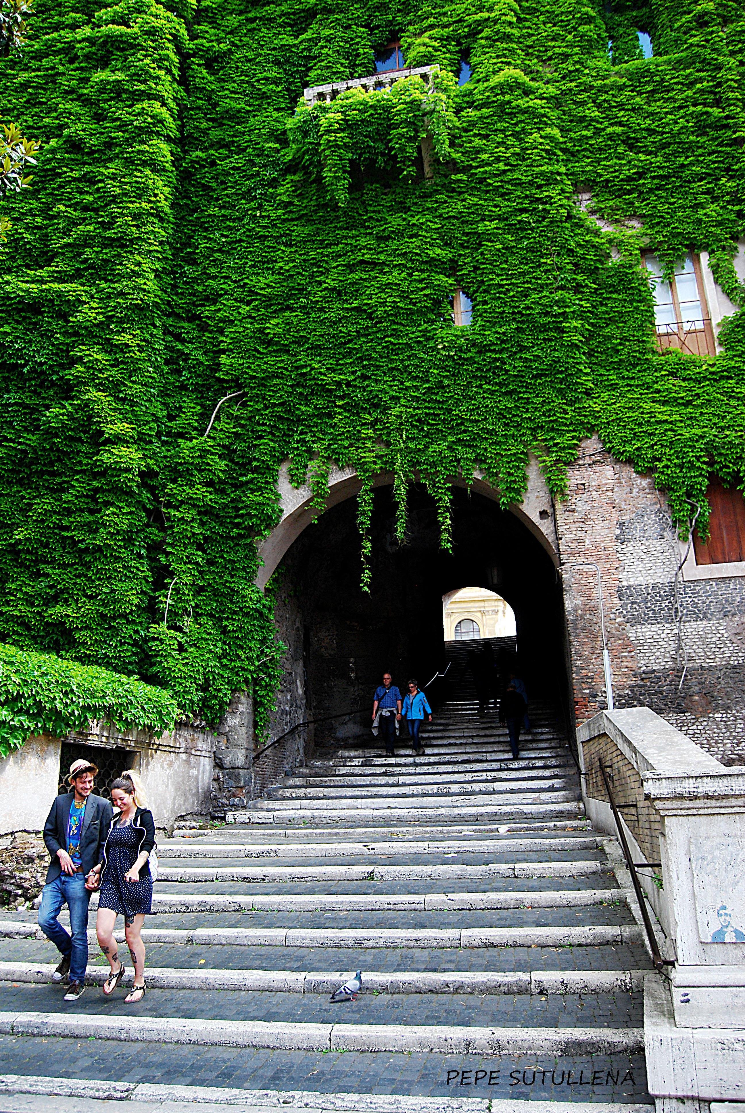Escalinata que sube hasta San Pietro in Vincoli