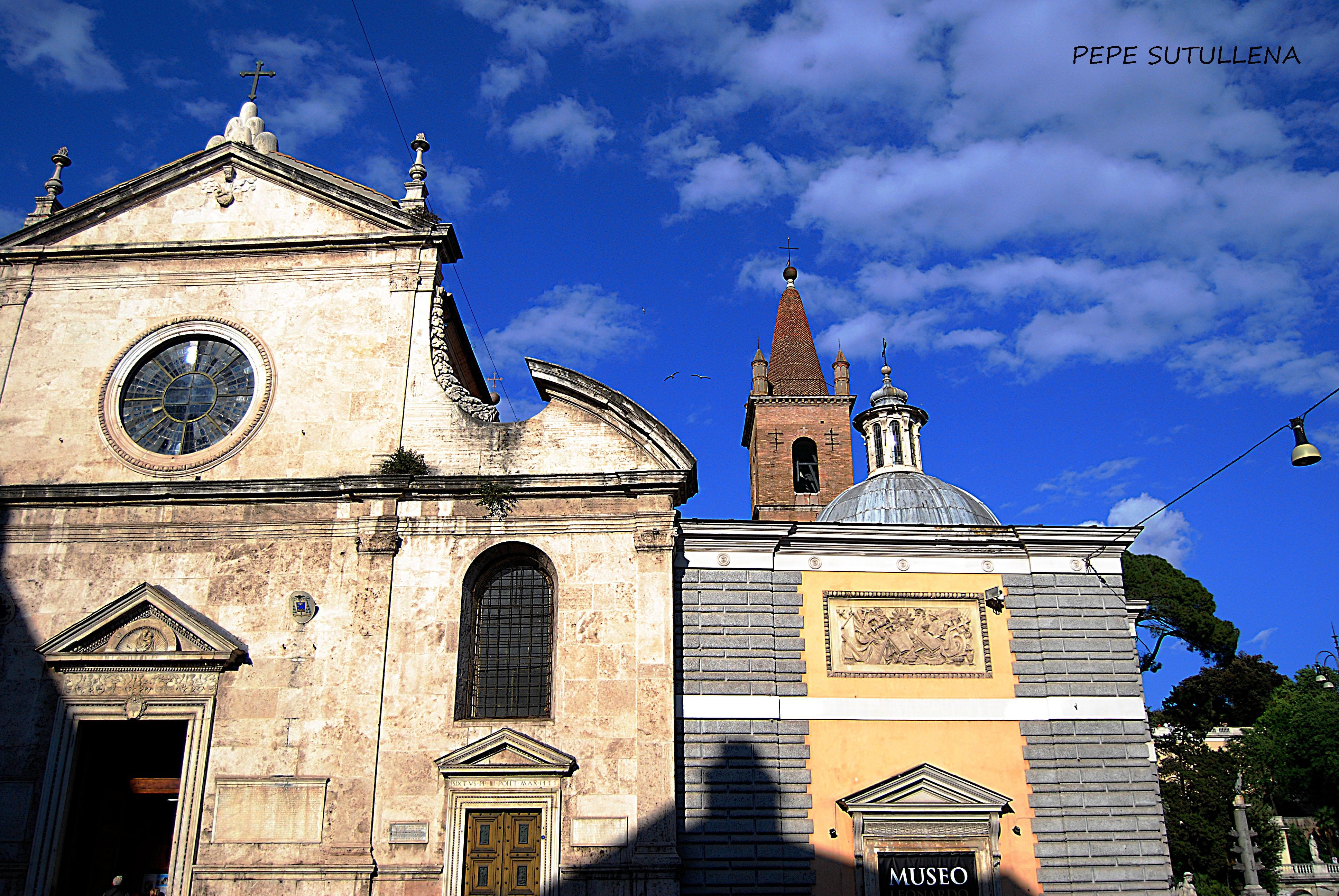 Fachada de Santa Maria del Popolo