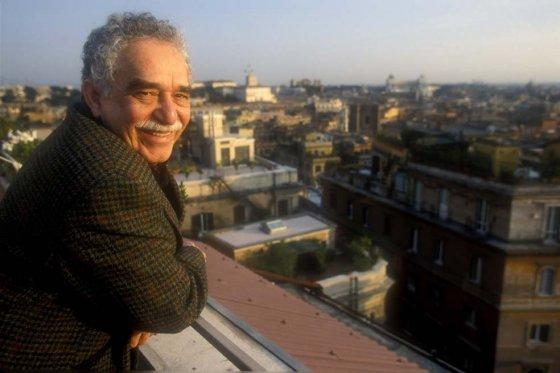 Gabo en uno de sus últimos viajes a Roma
