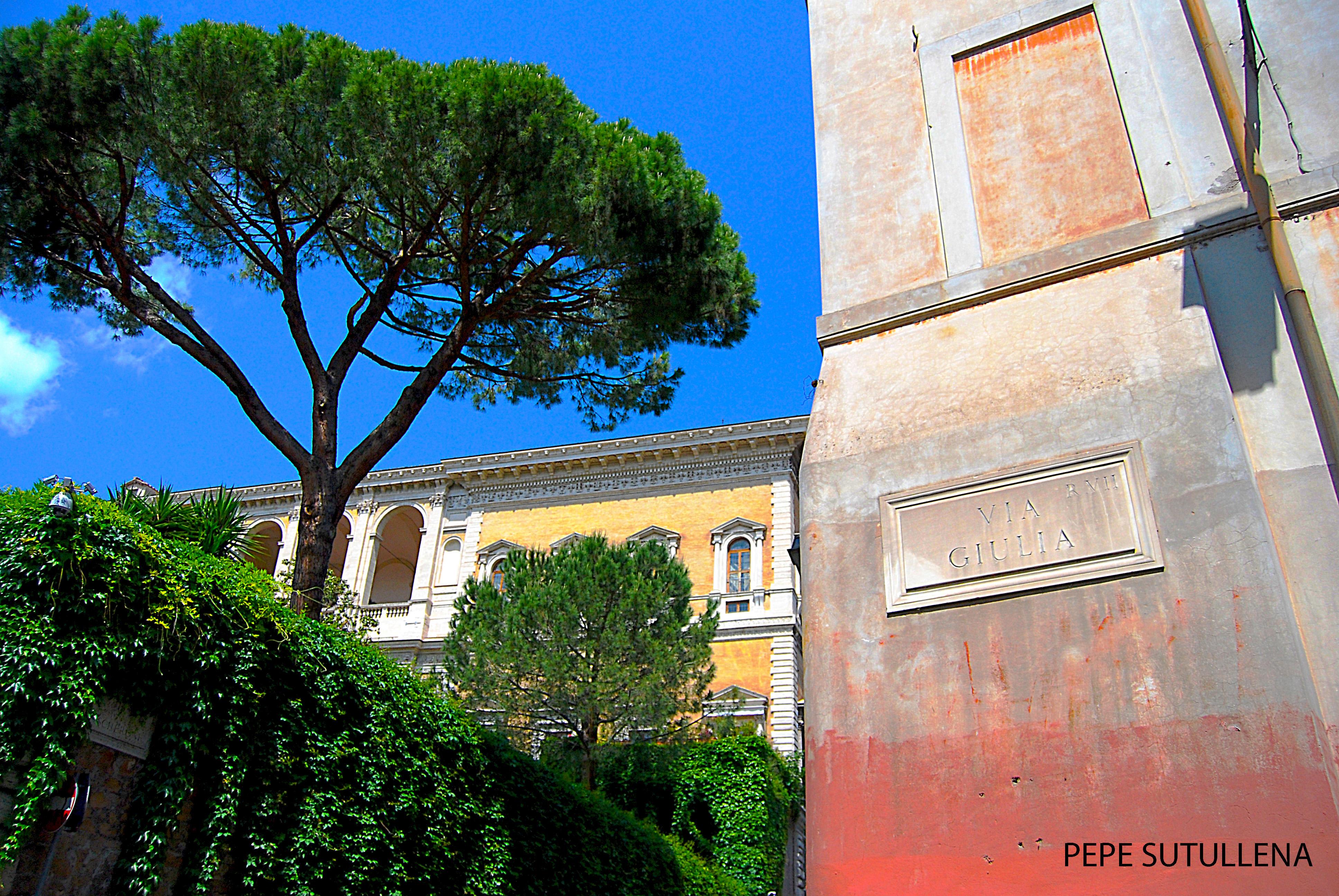 Jardín del Placio Farnese, diseñado por Miguel Ángel