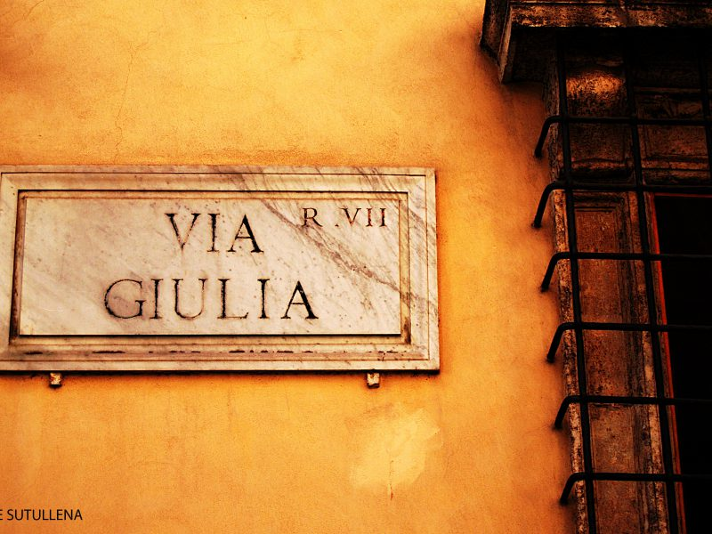 3. Un lugar para la derrota: Via Giulia