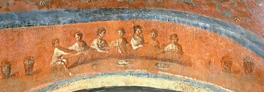 Ágape de la Santa Cena. Catacumbas de Santa Priscila