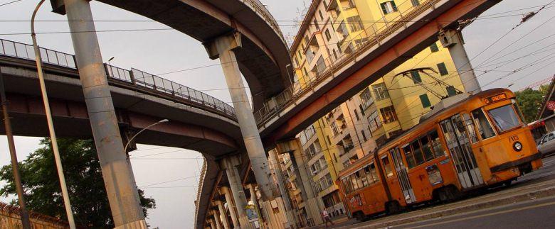 La Tangenziale a su paso por San Lorenzo