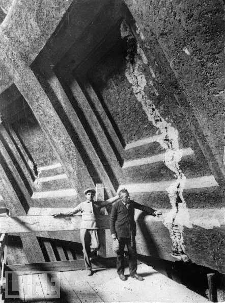 Momento de la restauracion del Panteon