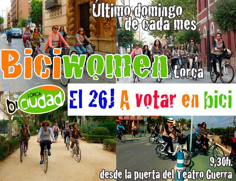 A votar en bici con las Biciwomen… ¡y resuelve la papeleta!