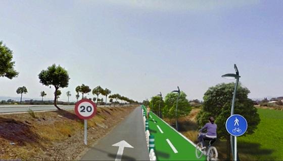 La vía de servicio entre la Ronda Sur y el Parque Almenara contará con un pasillo verde