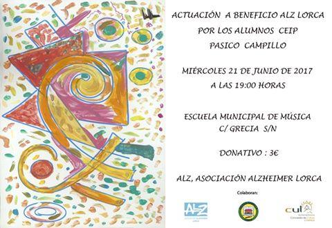 Los alumnos del CEIP Pasico Campillo organizan un acto benéfico para Asociación Alzheimer Lorca