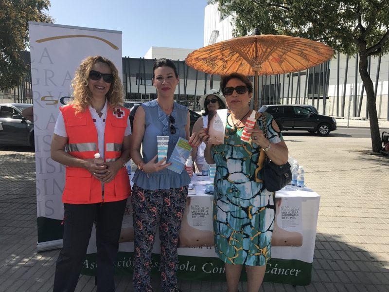 Campaña de sensibilización para evitar cáncer de piel y los golpes de calor, por las altas temperaturas