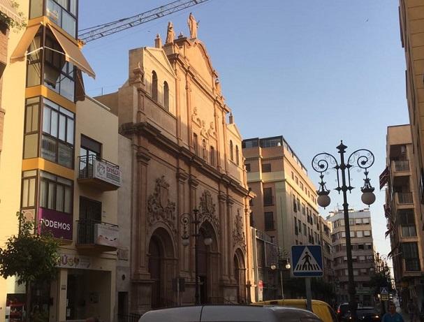 Restauran las epigrafías y la escultura de San Elías de la iglesia del Carmen