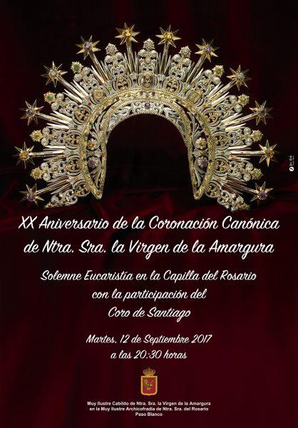 El Paso Blanco celebra el XX Aniversario de la coronación de la Virgen de la Amargura