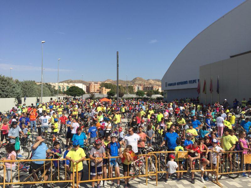 1.600 ciclistas participan en la clausura de los Juegos Deportivos del Guadalentín