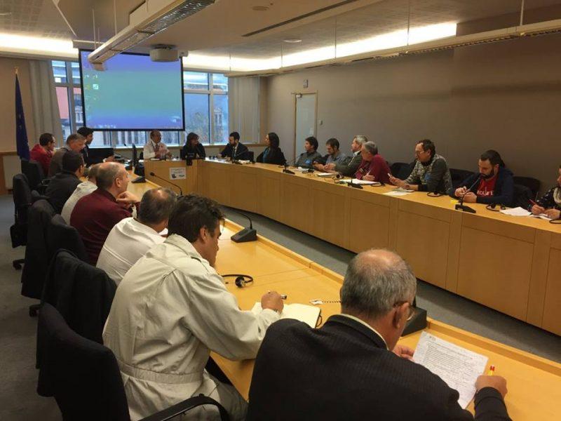 Regantes de las pedanías altas participan en Bruselas en un debate sobre la reforma de la Directiva Marco del Agua