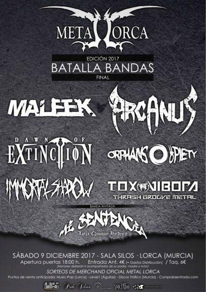 "Seis grupos se miden, este sábado, en la IV Batalla de Bandas ""Metal Lorca 2017"""