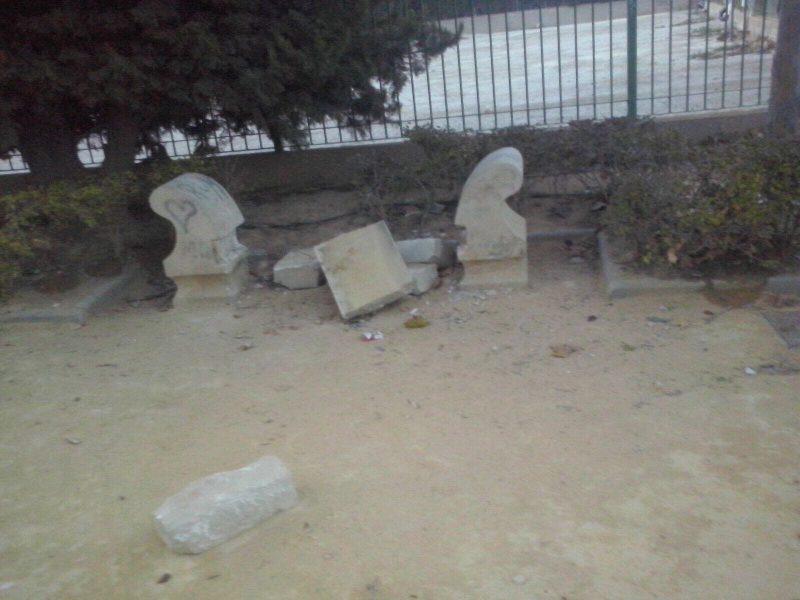 Actos vandálicos durante las últimas noches en distintos espacios públicos de Lorca