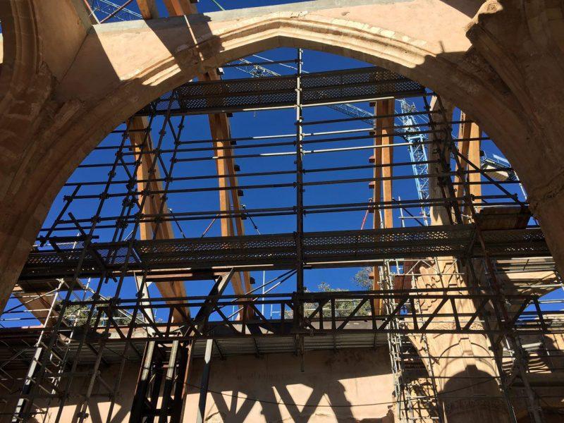 La recuperación de la iglesia de Santa María podría estar terminada para el próximo verano