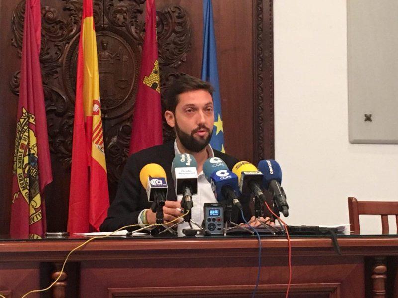 El presupuesto municipal del Ayuntamiento de Lorca para 2018 será de 74,9 millones de euros