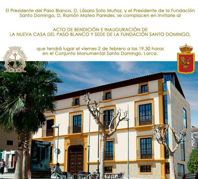 El Paso Blanco inaugurará su nueva Casa del Paso y sede de la Fundación Santo Domingo el 2 de febrero