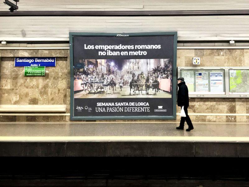 La Semana Santa de Lorca se sube al metro de Madrid
