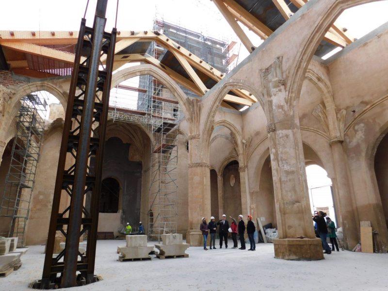 La recuperación de la iglesia de Santa María se encuentra en su fase final