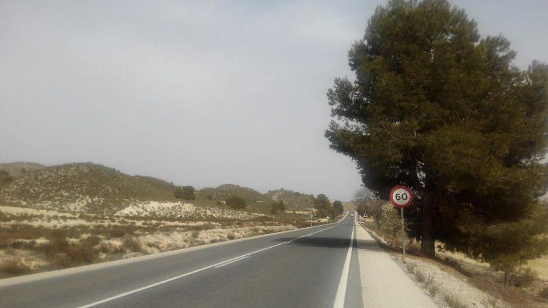 El Consejo de Gobierno aprueba 1,8 millones para remodelar la carretera que une Lorca con Caravaca
