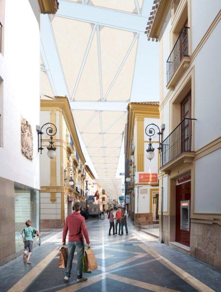 Instalarán toldos en las calles Corredera y adyacentes contra el calor y las emisiones de CO2