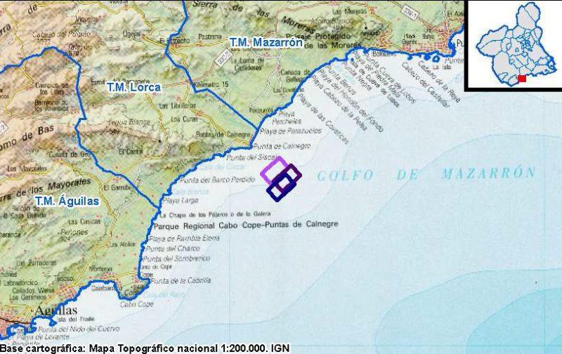 IU critica la intención de construir un polígono marino en el entorno de Puntas de Calnegre