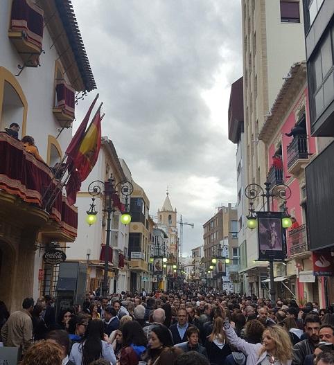 338.000 personas han disfrutado de los distintos actos de la Semana Santa lorquina