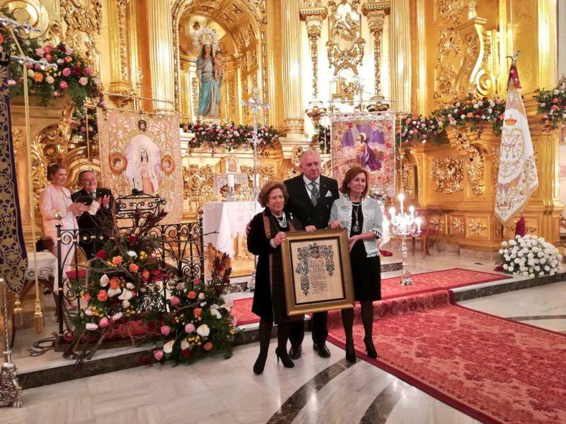Mª José Ruiz Cervera nombrada Presidenta de Honor del Coro de Damas dela Virgen de la Amargura