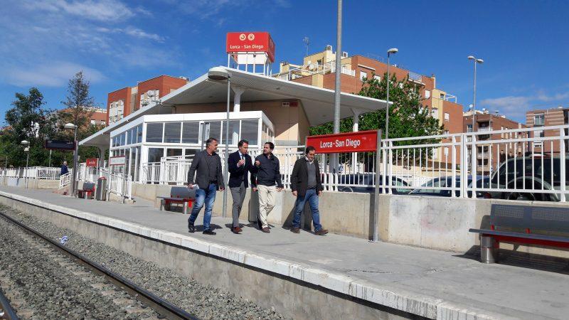 """Gil: """"La llegada de la Alta Velocidad ferroviaria a Lorca está más cerca que nunca"""""""