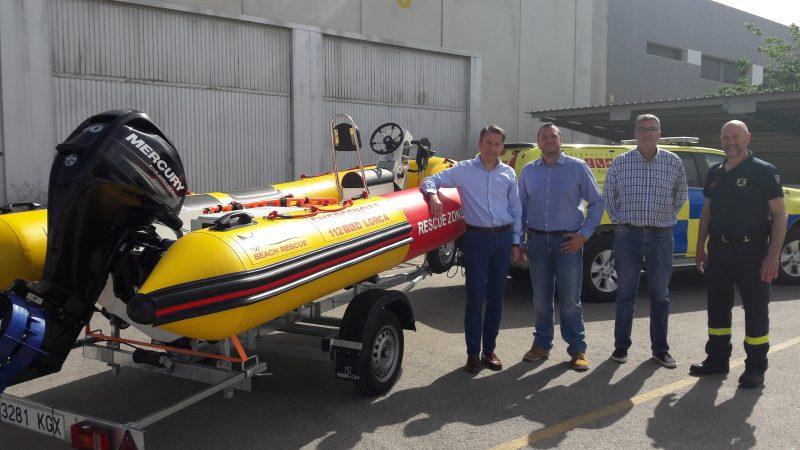 Emergencias de Lorca cuenta con una nueva embarcación con equipamiento puntero