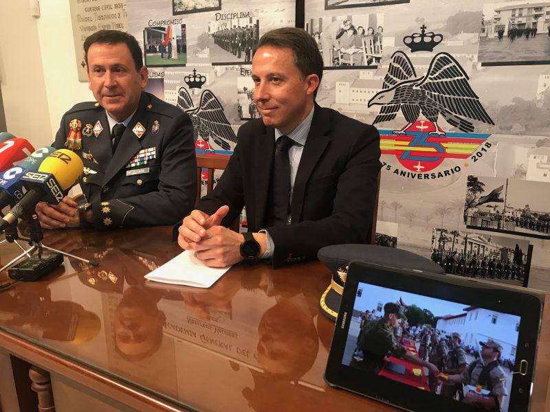 La Academia General del Aire organiza, por primera vez en Lorca, una jura de bandera