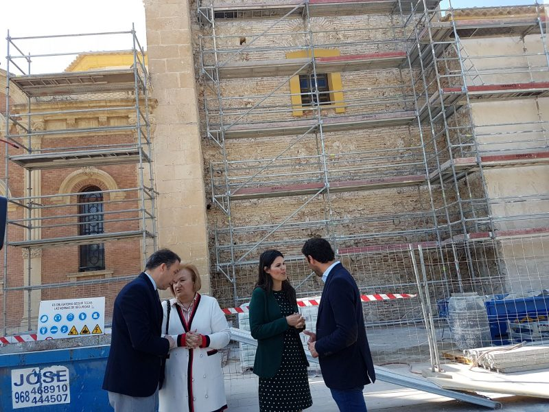 Continúa la recuperación de la fachada del santuario de la Virgen de la Huertas