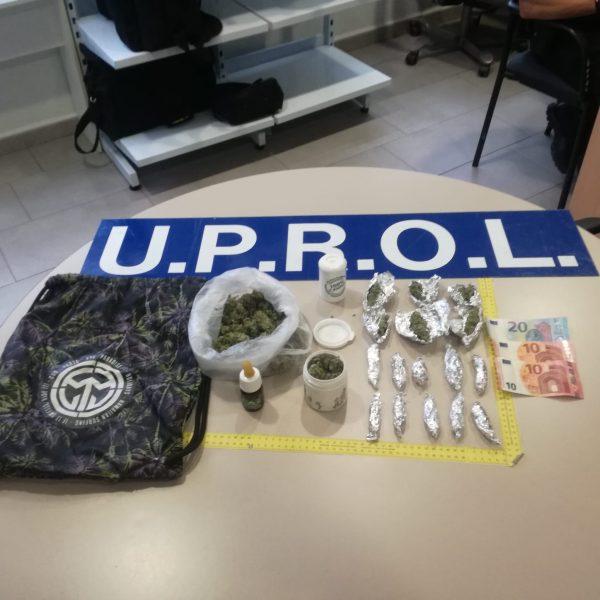 Dos operaciones policiales permiten la retirada de la circulación de más de un cuarto de kilo de marihuana