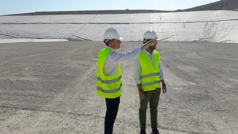 Este mes acabarán las obras del nuevo vaso de gestión de residuos de Barranco Hondo