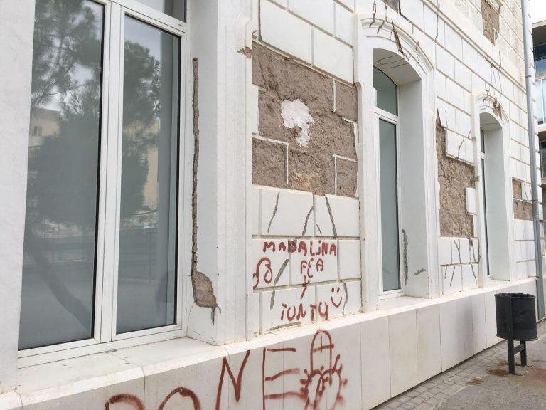 Exigen, de nuevo, el arreglo de la fachada del Campus Universitario dañada por los seísmos de 2011