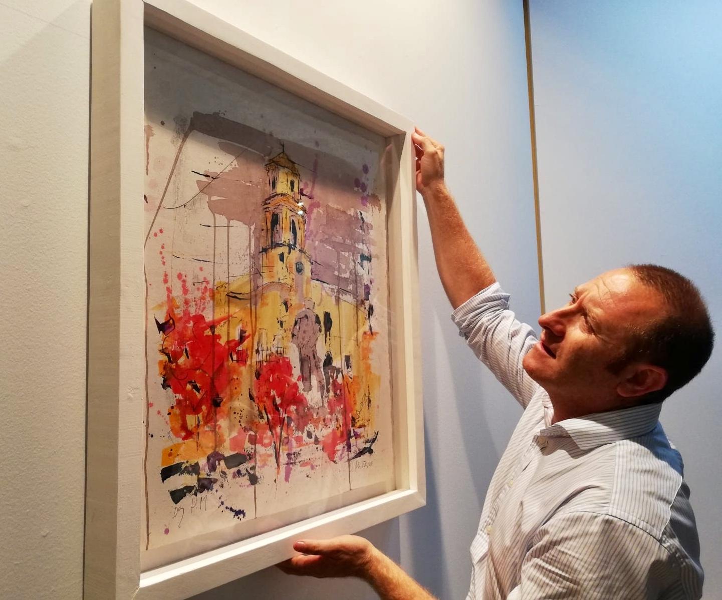 Exposición en el Huerto Ruano del artista lorquino, Pedro Miñarro, con sabor a vino