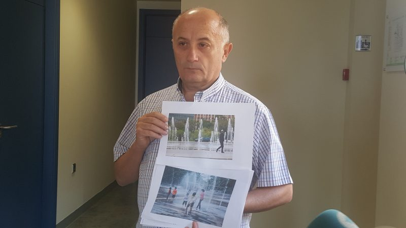 Ciudadanos propone la instalación de fuentes de chorros verticales en las plazas