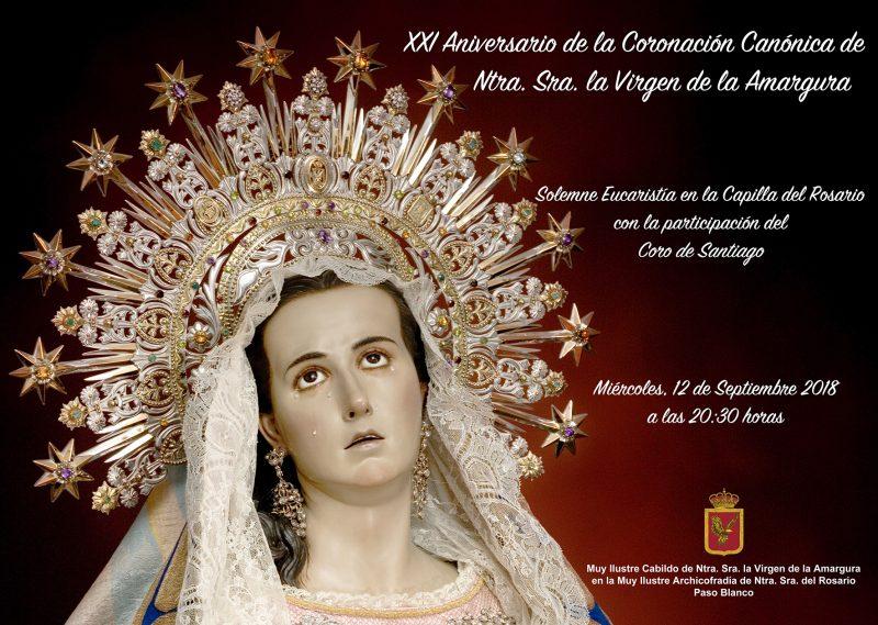 El Paso Blanco celebra el XXI Aniversario de la coronación de la Virgen de la Amargura