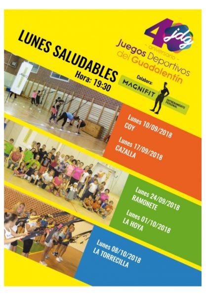 Lunes Saludable en Coy, Jugando al Atletismo y Aquazumba, platos fuertes de esta semana en los JDG