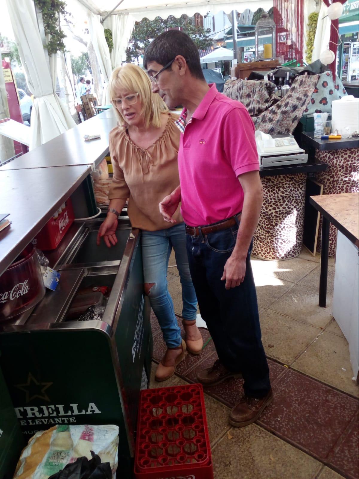 Supervisan los establecimientos gastronómicos instalados con motivo de la feria y fiestas