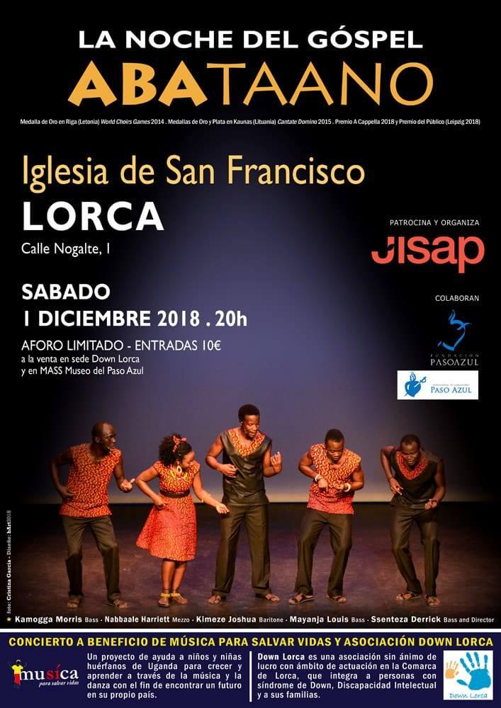 """La iglesia de San Francisco acoge el concierto """"La noche del Góspel: Aba taano"""" a beneficio de 'Música Para Salvar Vidas' y 'Down Lorca'"""