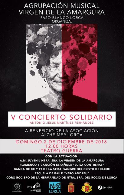 Este domingo se celebra el V Concierto Solidario «Antonio Jesús Martínez Fernández» a beneficio de Alzheimer Lorca