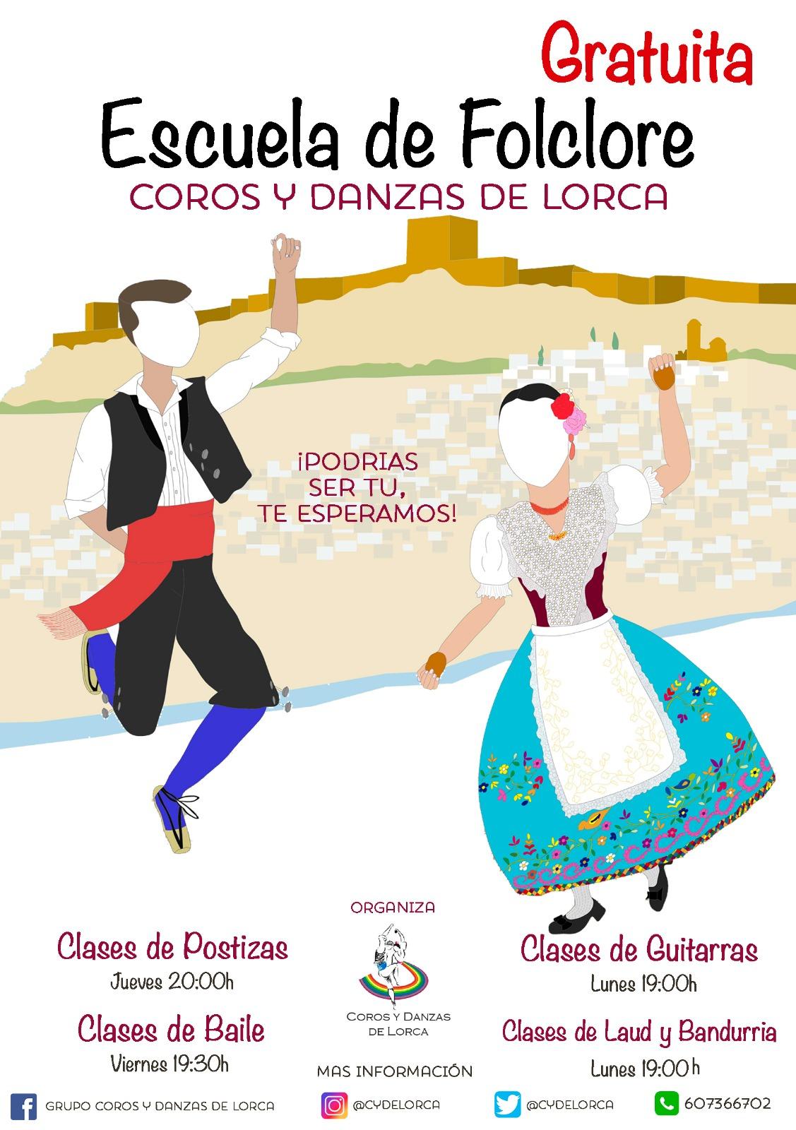 Coros y Danzas de Lorca vuelve a poner en marcha, un año más, su Escuela de Folklore