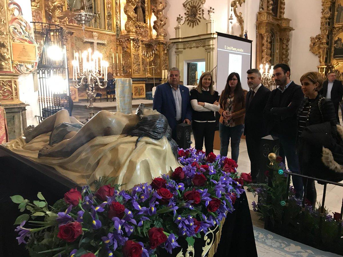Concluye la restauración del Cristo de la Buena Muerte del Paso Azul