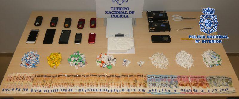 Detenidos dos traficantes de drogas e intervenido más de un kilogramo de cocaína en Lorca