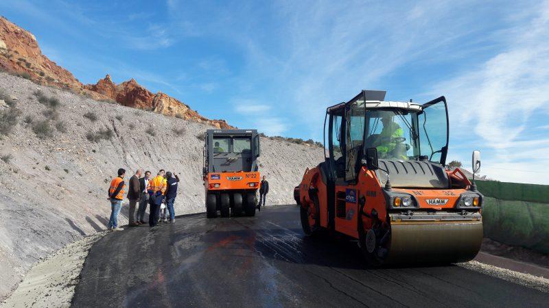 A punto de concluir las obras de mejora del vial de acceso al Castillo desde San José