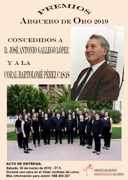 José Antonio Gallego y la Coral Bartolomé Pérez Casas, premios Arquero de Oro 2019