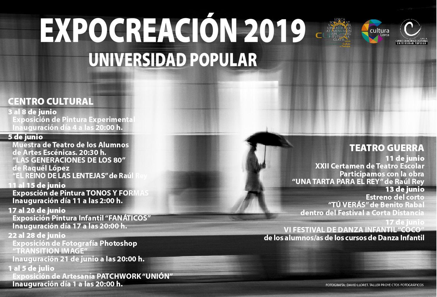 Hasta el 5 de julio se podrá disfrutar de exposiciones, teatro y danza dentro de «Expocreación 2019»